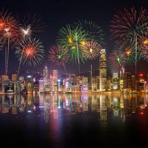 Ngắm pháo hoa trên Cảng Victoria